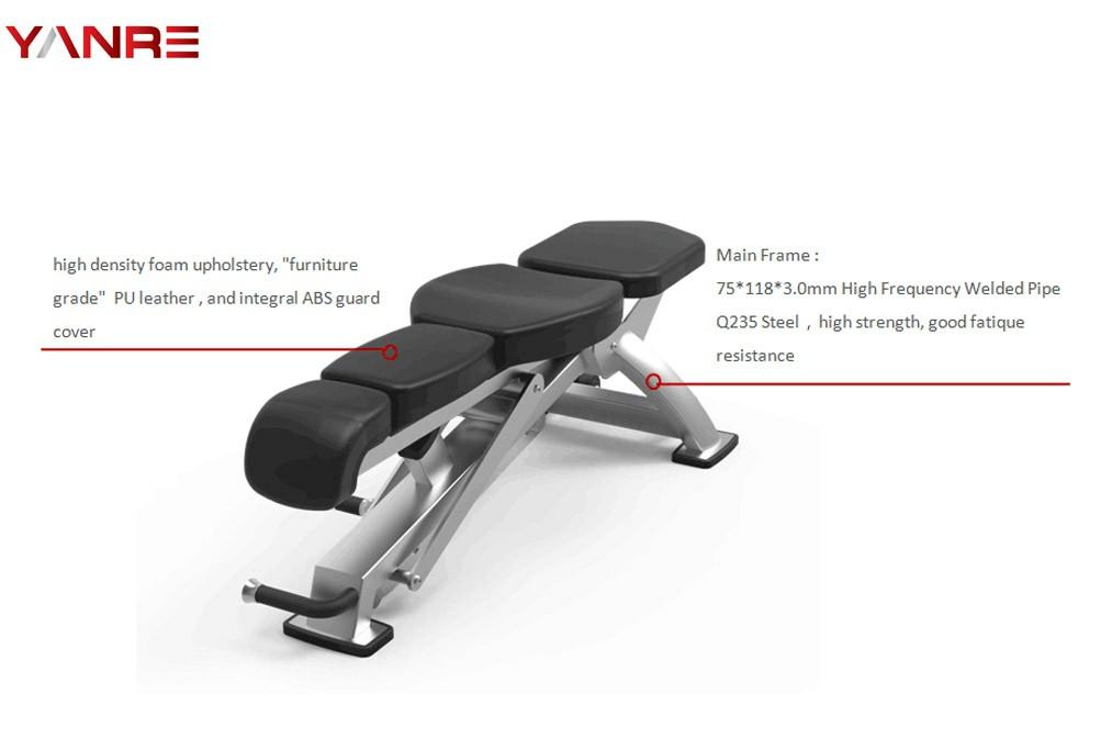 Flat/Incline Adjustable Bench 1