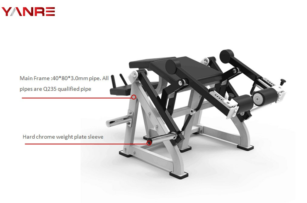 Plate loaded Iso-lateral leg curl 1