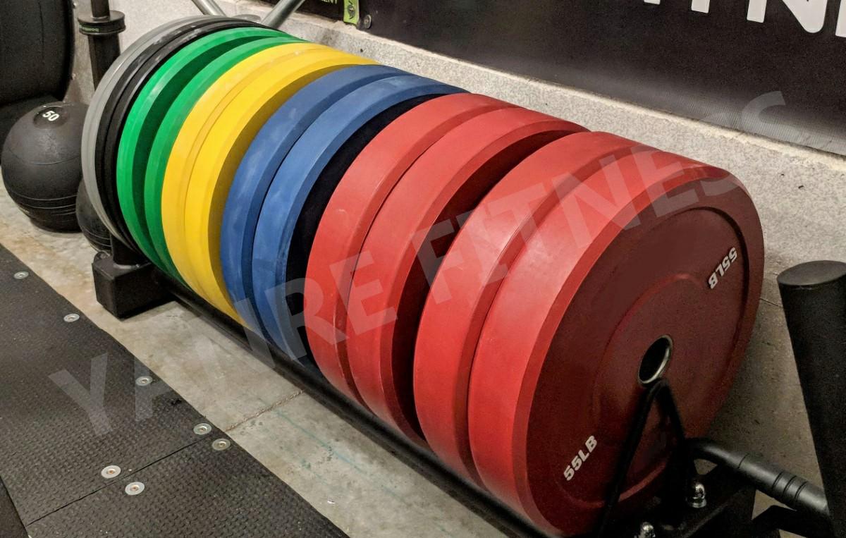 Yanre-fitness-gym-equipment-crossfit-Rubber-Bumper-Plates(multicolorBPR002M-3