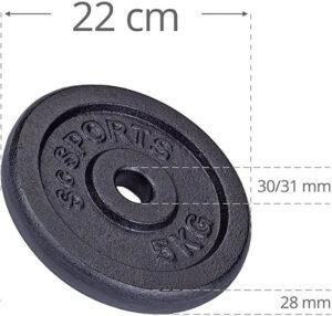Plaque de poids avec trou de 30 mm