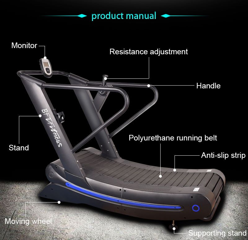 Commercial Curved Treadmill 12