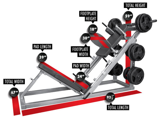 Hack Squat Leg Press Machine 3