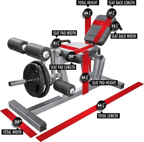 Commercial Leg Extension Curl Machine 12