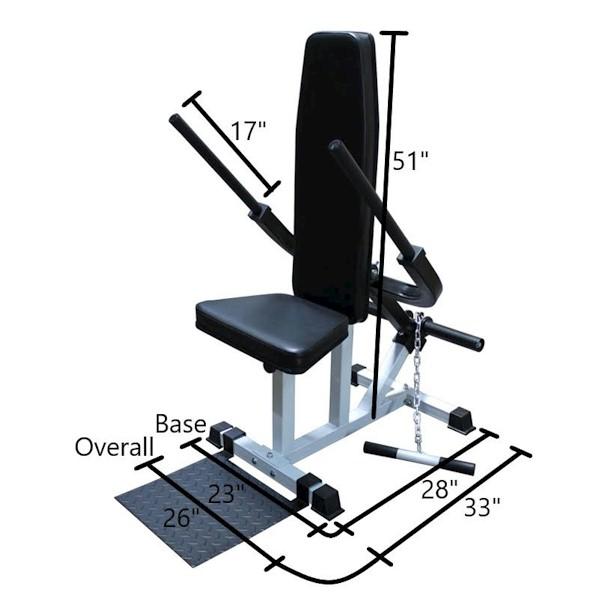 Plate Loaded Triceps Pushdown Machine 15