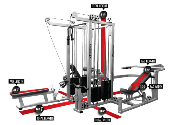4 Station Gym Machine 3