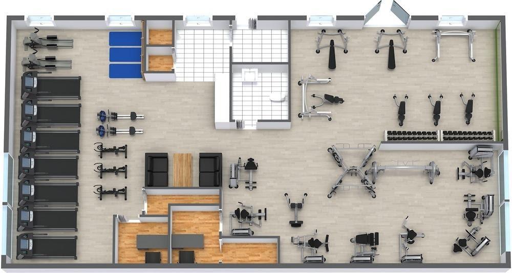 Hướng dẫn cơ bản về sơ đồ tầng 8 phòng tập thể dục thương mại