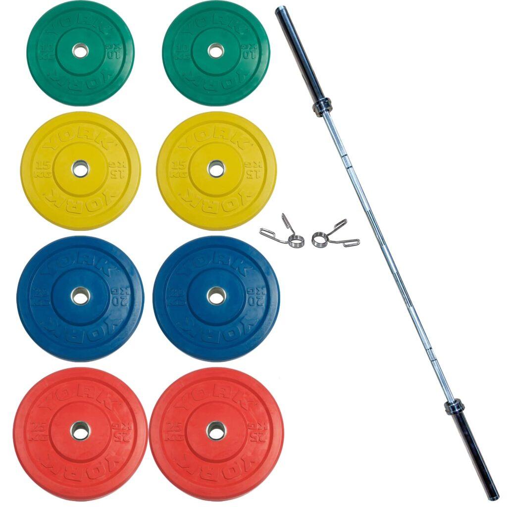 Coloured Barbell Set 2