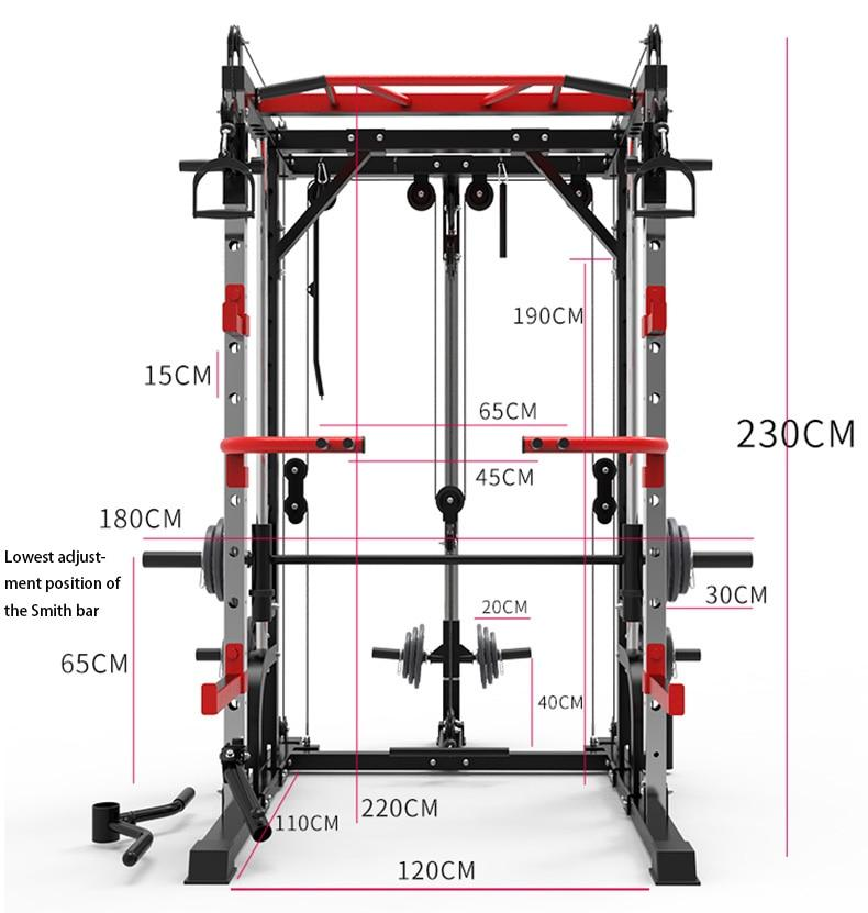 Smith Machine with Cable Crossover 13